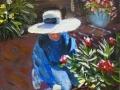Kay Crain - Jenny planting oleander
